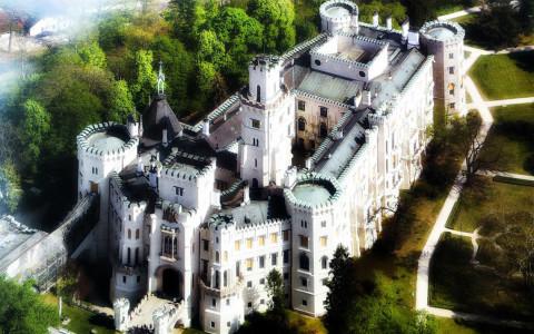 Замок Глубока-над-Влтавой, вид сверху